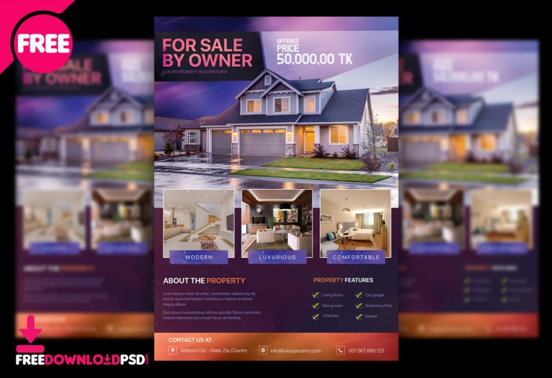 Property Free Flyer PSD Template