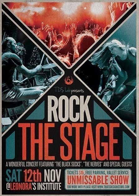 Rock the Stage Free PDS Flyer Template
