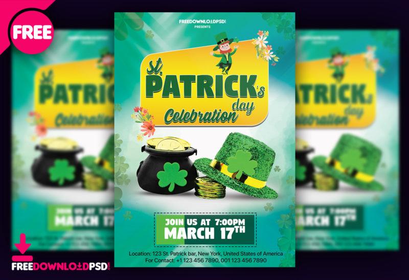 Saint Patrick Day Free Flyer PSD Template