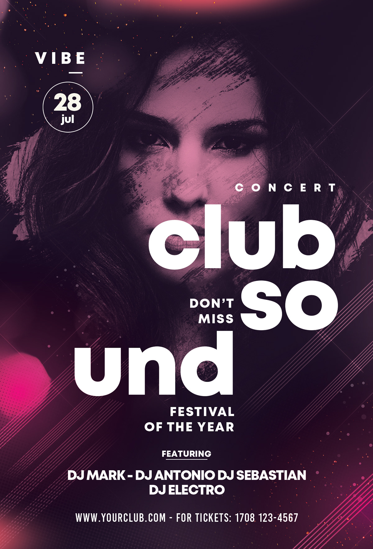 Sound Festival Free PSD Flyer Template