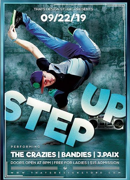 Step up Hip Hop Free PSD Flyer Template