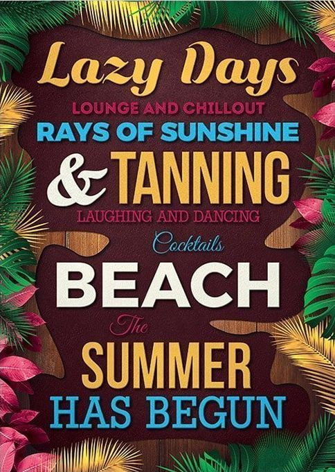 Summer Quote Free PSD Flyer Template