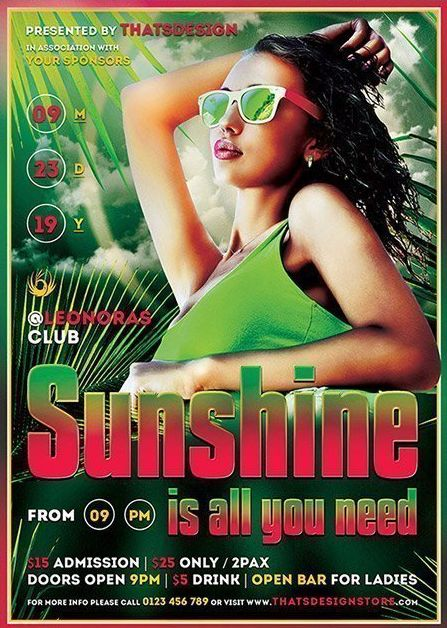 Summer Sunshine Free PSD Flyer Template