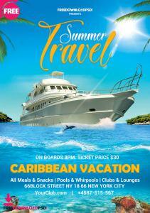 Summer Travel Flyer Template PSD