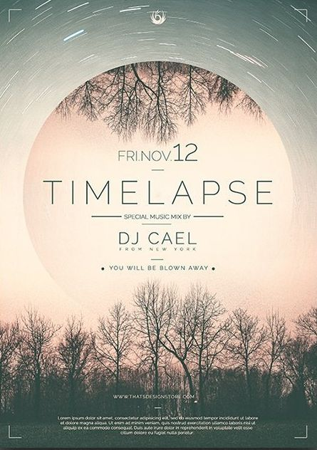 Time Lapse Free PSD Flyer Template