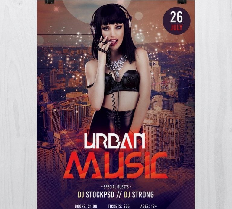 Urban Music – Free PSD Flyer Template