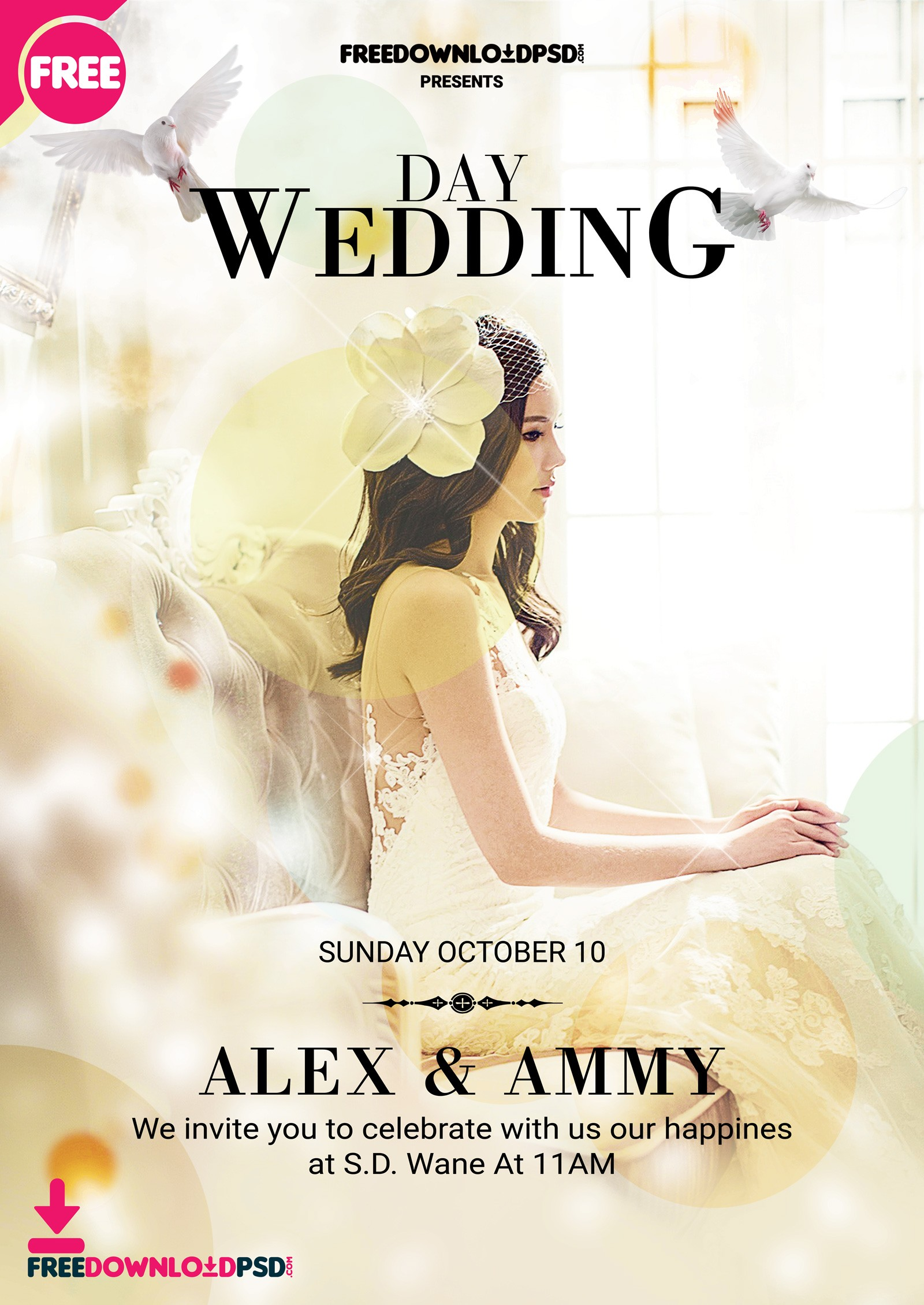 Wedding Flyer Template PSD
