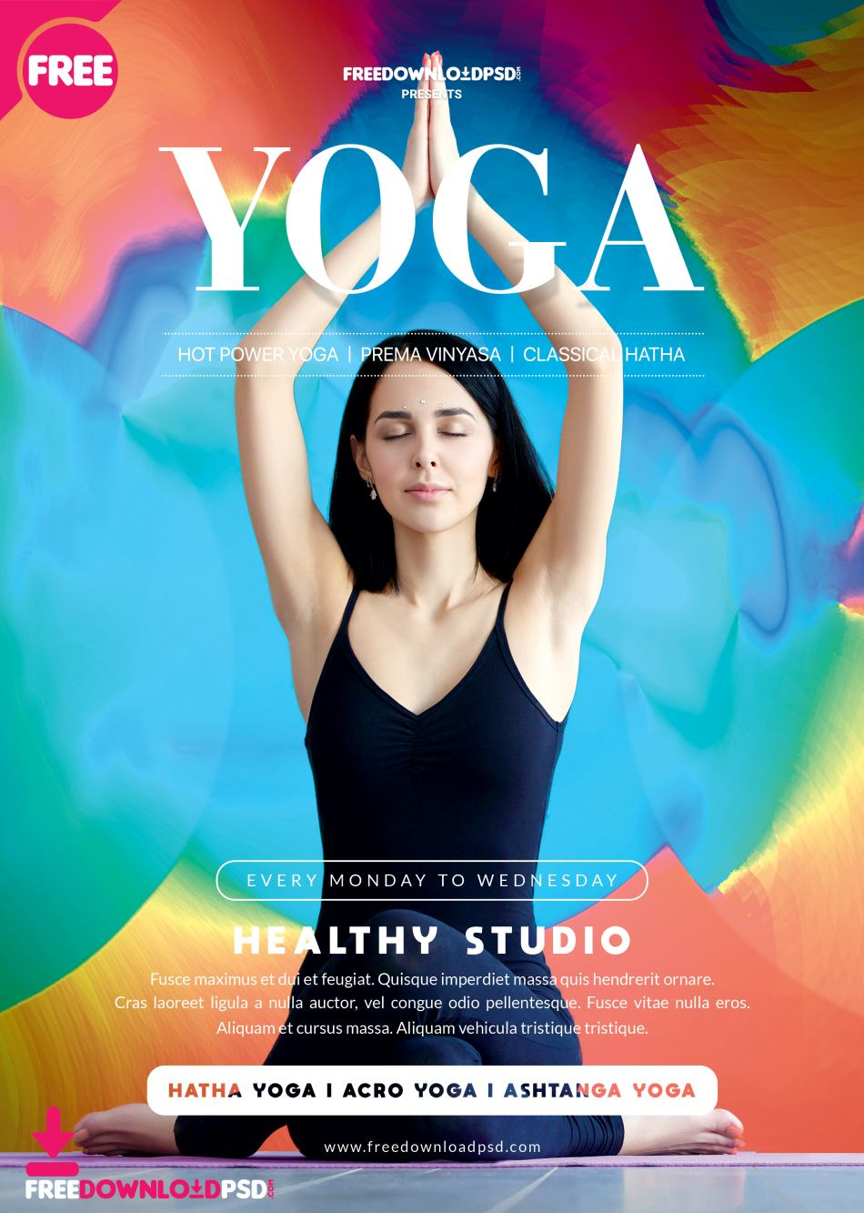 Yoga - Flyer Free PSD Template