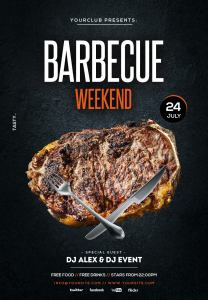 Barbecue BBQ Weekend Free PSD Flyer Template