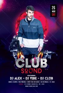 Club Music Sound Free Flyer Template