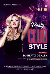 Club Style – Ladies Night Free PSD Flyer Template