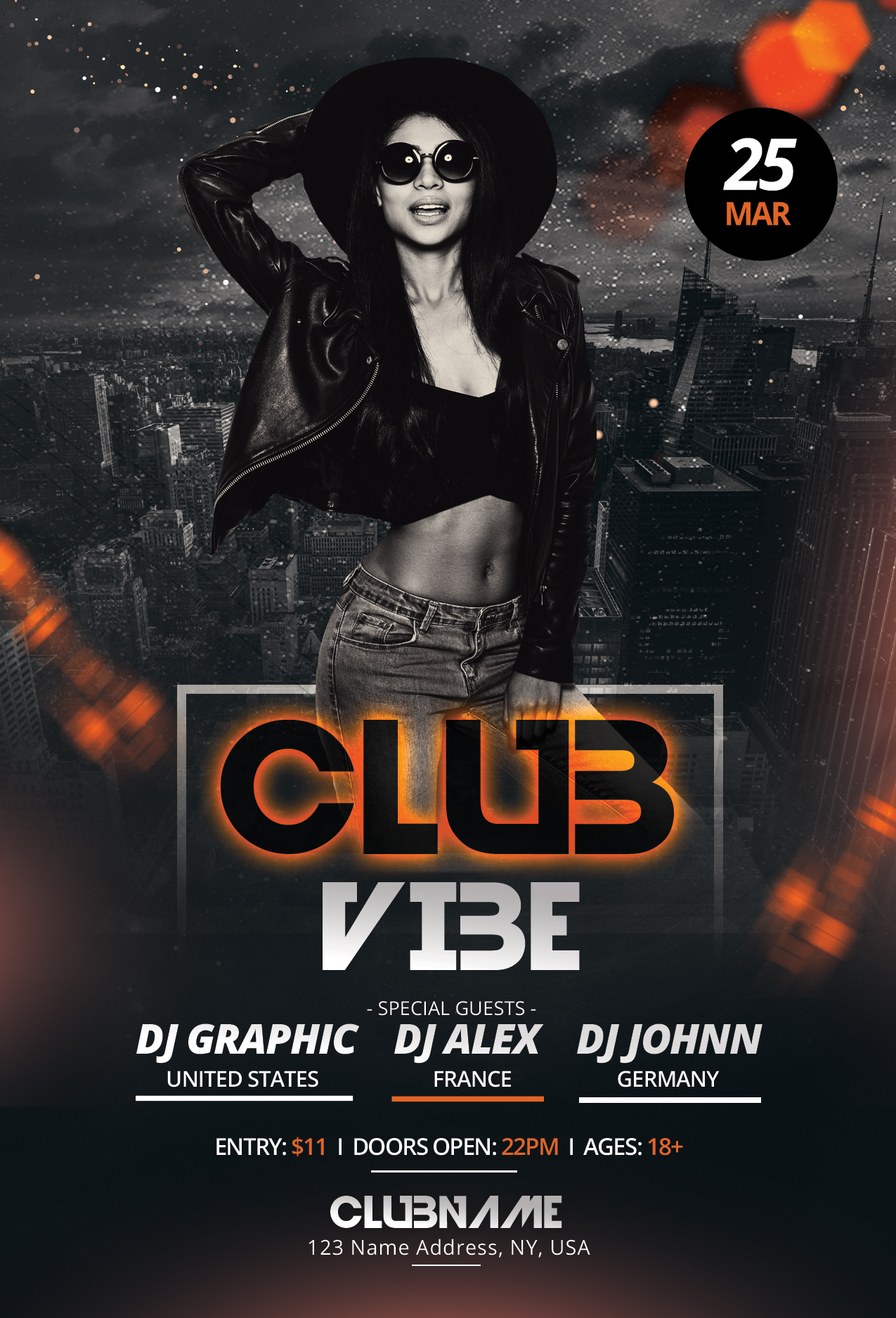 Club Vibe - Free Photoshop PSD Flyer Template