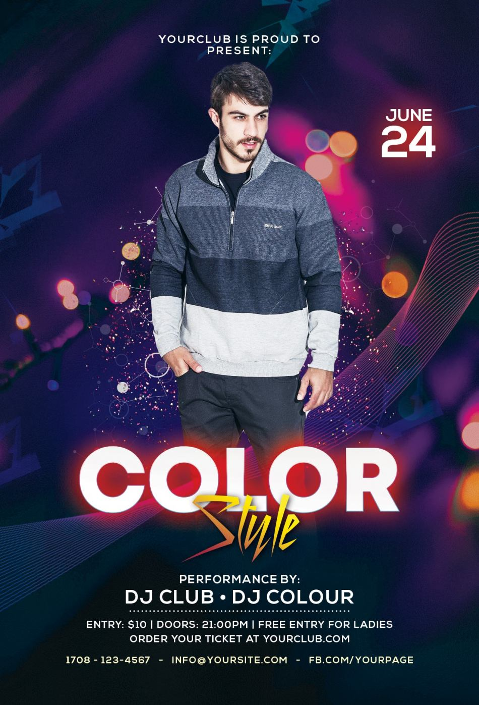 Color Club Free PSD Flyer Template