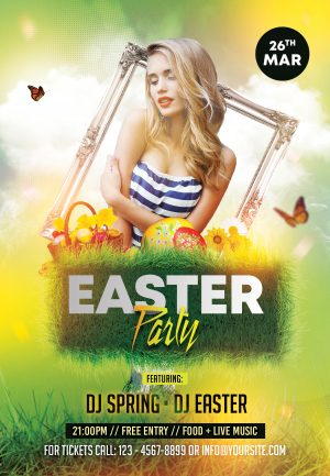 Easter Event - Free PSD Flyer Template