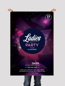 Ladies Party – Download Free PSD Flyer Template