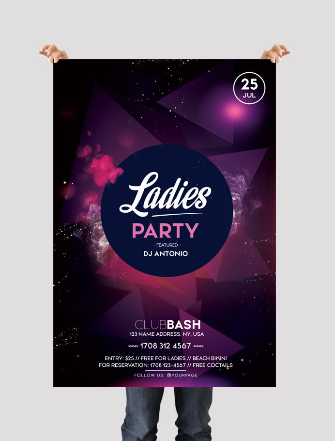 Ladies Party - Download Free PSD Flyer Template