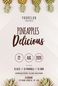Pineapples Invitation – Minimal Free PSD Flyer Template