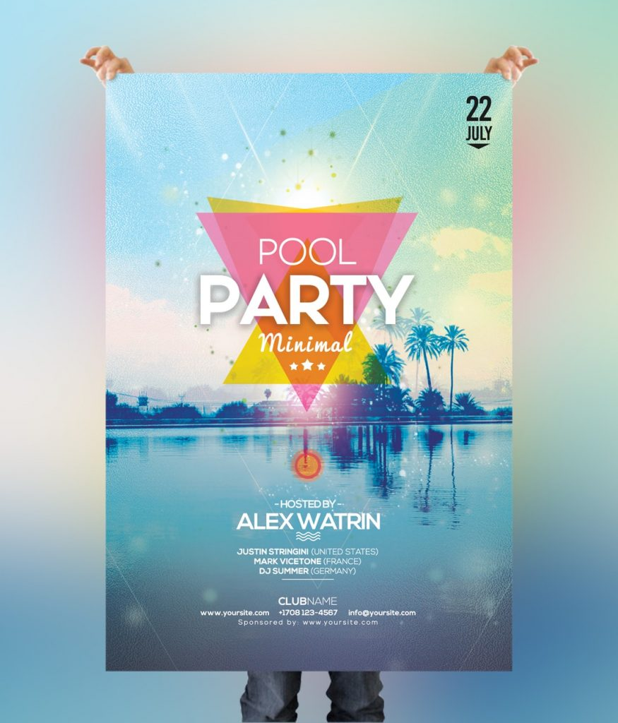 Pool Party - Free Summer PSD Flyer Template