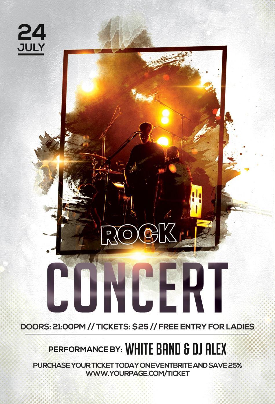 Music Concert Free PSD Flyer Template