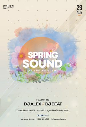 Spring Sound - Download Free PSD Flyer Template