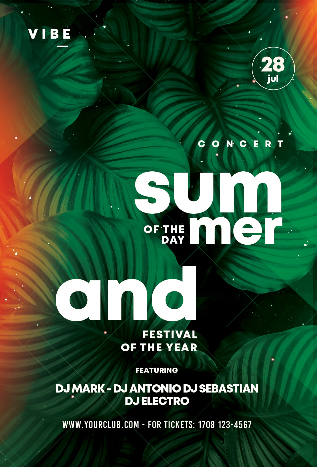 Summer Day - Free Botany PSD Flyer Template