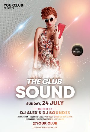 The Club Sound - Elegant Free PSD Flyer Template