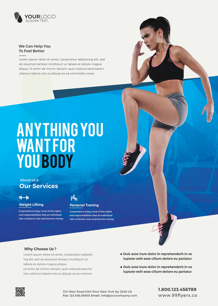 Clean Fitness Free Psd Flyer Template