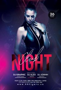 Night Club DJ Free PSD Flyer Template