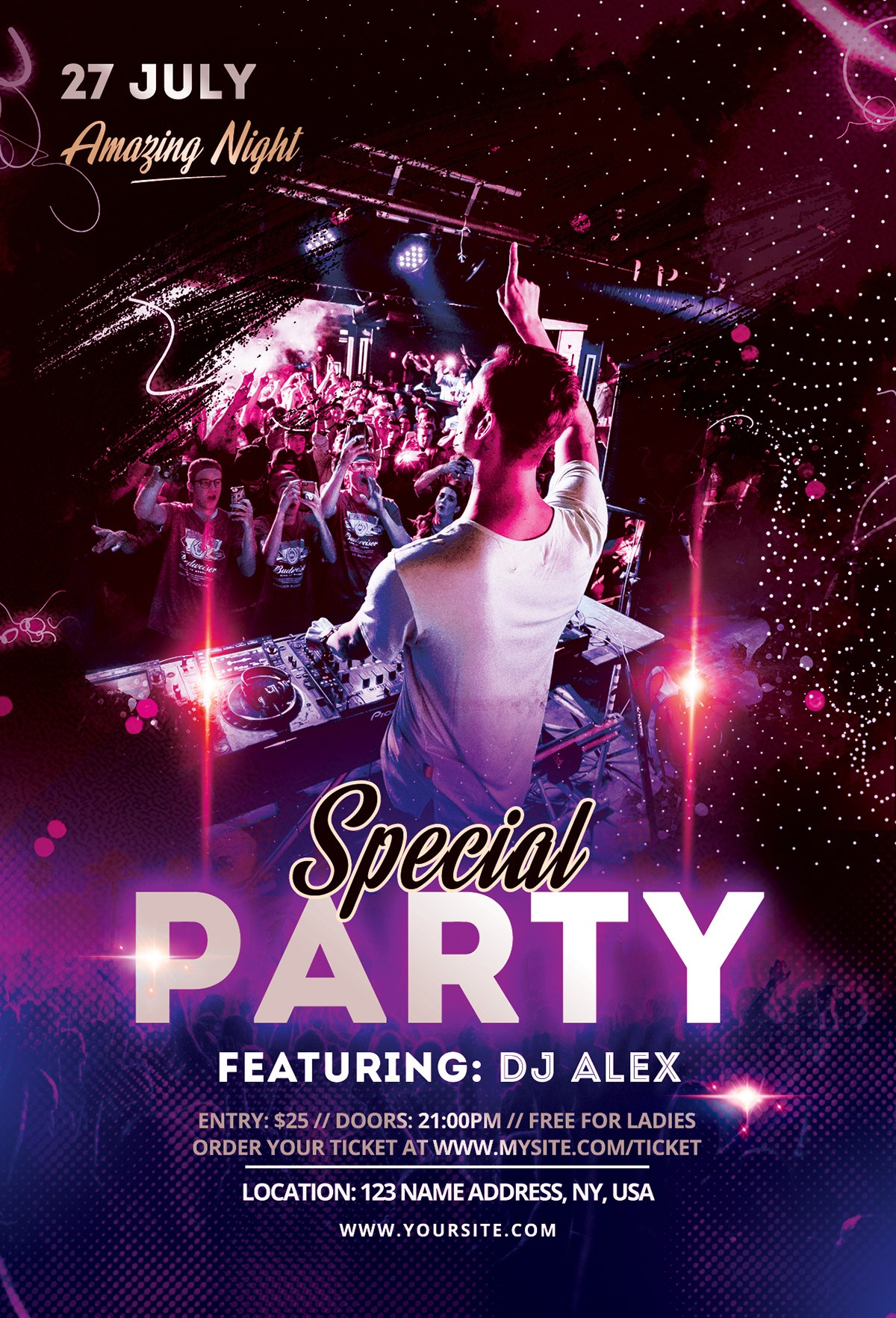 Special Party DJ PSD Free Flyer Template