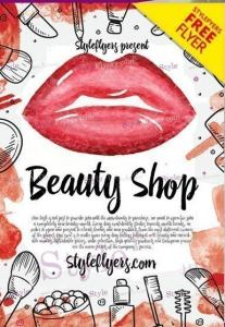 Beauty Shop FREE Flyer PSD