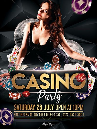 Casino Party – Free PSD Flyer Template