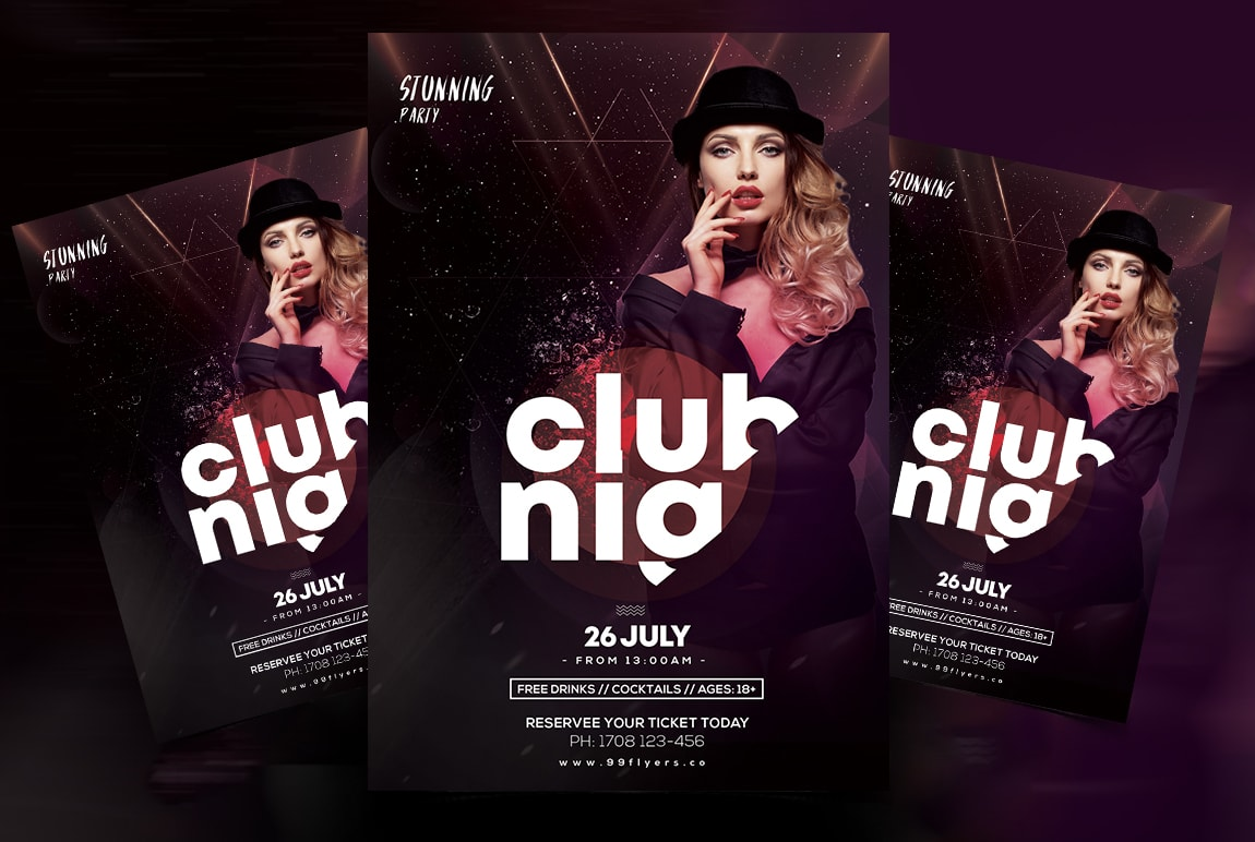 Club & Event Free PSD Flyer Template