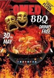Comedy BBQ FREE PSD Flyer Template