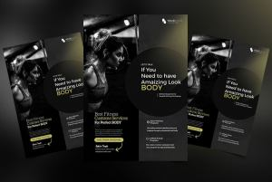 Creative Fitness PSD Free Flyer Template