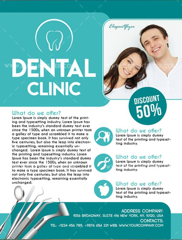 Dental Clinic – Free Flyer PSD Template