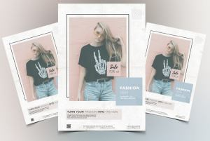 Fashion Week – Clean Free PSD Flyer Template