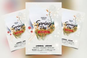 Free Spring Break PSD Flyer Template
