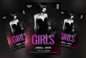 Girls Night Free PSD Flyer Template
