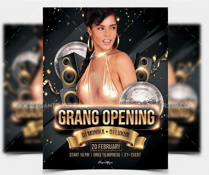 Grand Opening – Free PSD Flyer Template