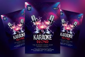 Karaoke Sound Free PSD Flyer Template