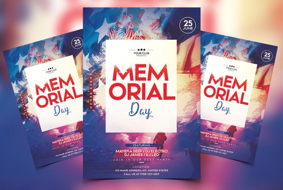 Memorial Day Free PSD Flyer Template