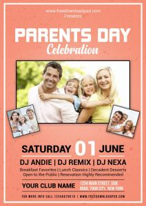 Parents Day Flyer Template