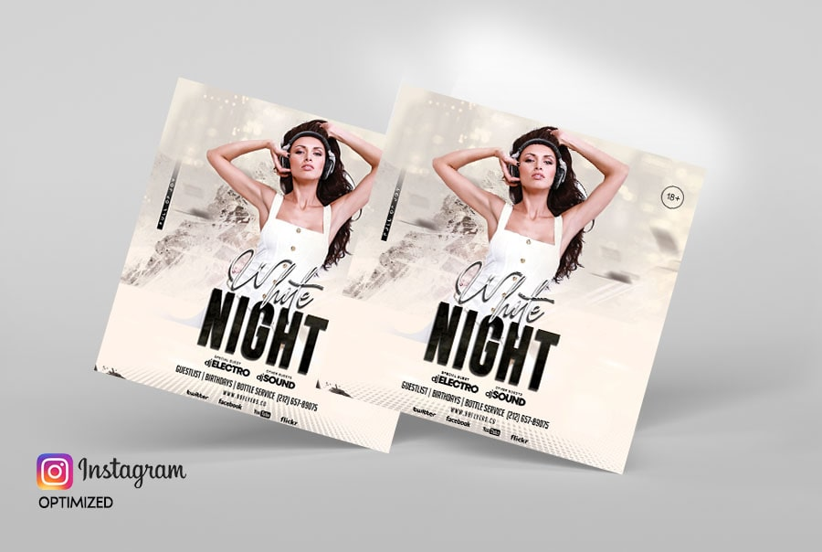 Party Music Free Instagram Psd Flyer Template
