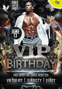 Party for VIP Birthday Night PSD Flyer
