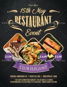 Restaurant Event – Free PSD Flyer Template