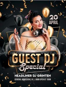 Special Guest DJ – Free Flyer Template in PSD