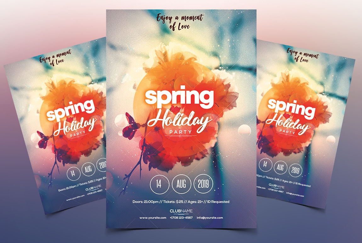 Spring Party PSD Free Flyer Template