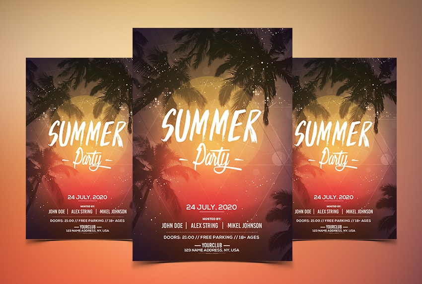 Summer Party Free PSD Flyer Template Vol.2