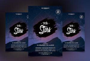 To the Stars PSD Free Flyer Template
