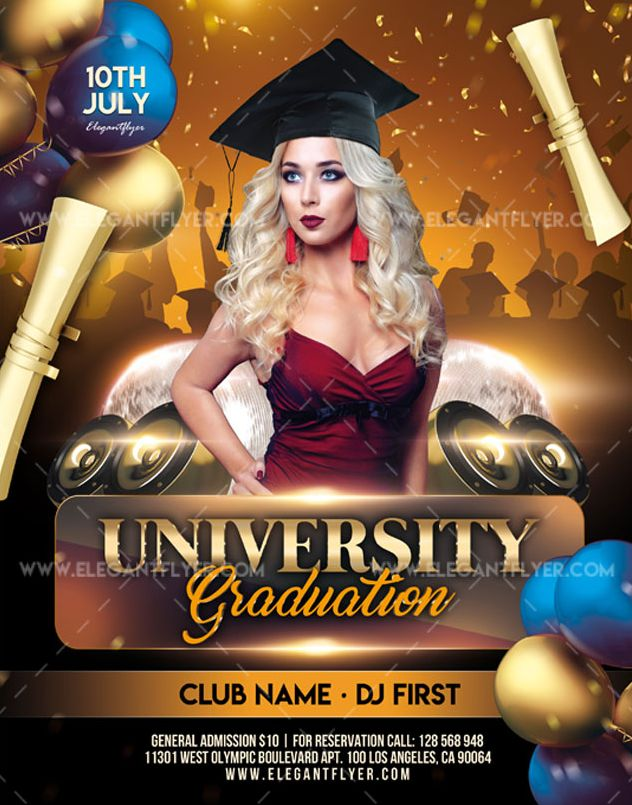 University Graduation – Free Flyer PSD Template